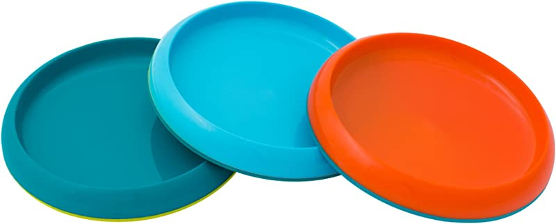 Boon Plate Edgeless Nonskid Plate Blue Orange Green