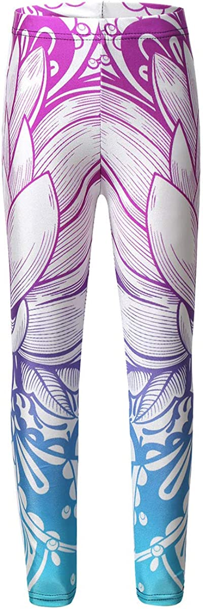 iiniim Toddler Baby Girls Elasticated Waist Slim Ankle Length Leggings Pants Athletic Gym Yoga Strechy Tight Trousers