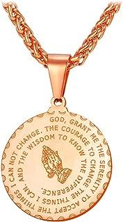 Men Women Bible Verse Prayer Necklace with Free Chain 20