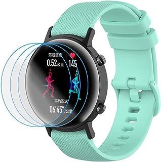 NOKOER Rem för Honor Magic Watch 2 42 mm, [2 in1] mjuk silikonklocka rem + 3-pack TPU skärmskydd, rem ersättning [slitstar...