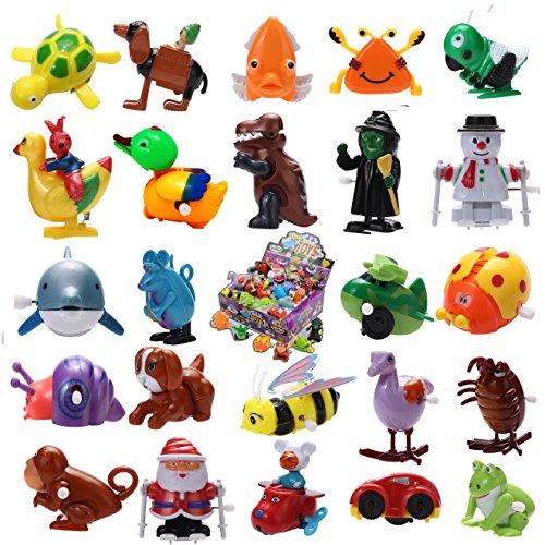JOYIN 24 Pieces Assorted Wind-up Toys for Kids Party Favors (2 Dozen)