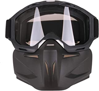 Aooaz Motorcycle Glasses Riding With Mask Shield Goggles