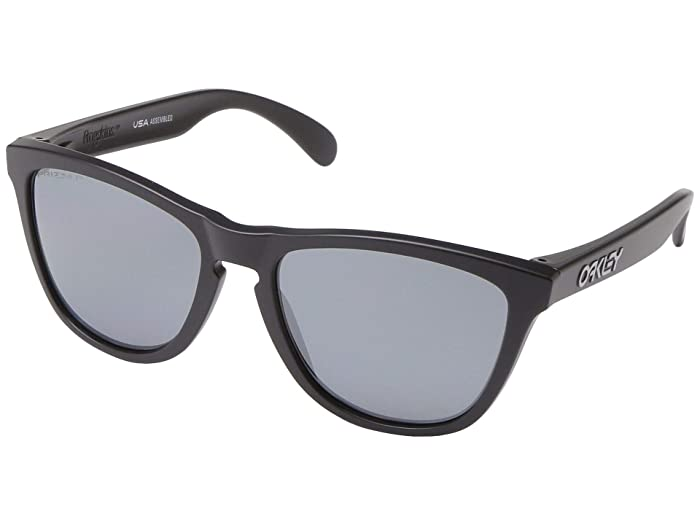 Oakley Frogskins (Matte Black w/ Prizm Black Polarized) Sport Sunglasses
