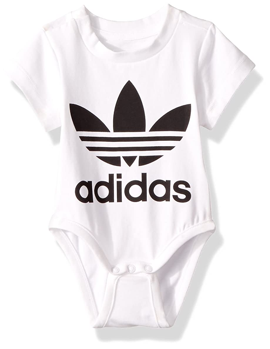 adidas Originals Baby Girls' Toddler Kids Trefoil Onesie