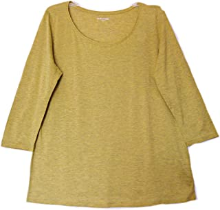 Eileen Fisher Silk Cotton Jersey Parrot S 3/4 Seelve Top S