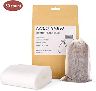 Cold Brew Coffee Filter Bag, Merssyria Iced Coffee Maker Single Serve Filter Bags Disposable for Concentrate, Iced Coffee, French Press (L)