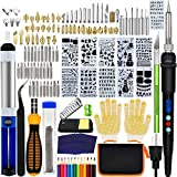 136PCS Wood Burning Kit, PETUOL Professional Soldering Iron Set with LCD Display Switch Adjustable Temperature 356-932 ℉, Creative Tool DIY Kit for Carving/Soldering & Pyrography Tips