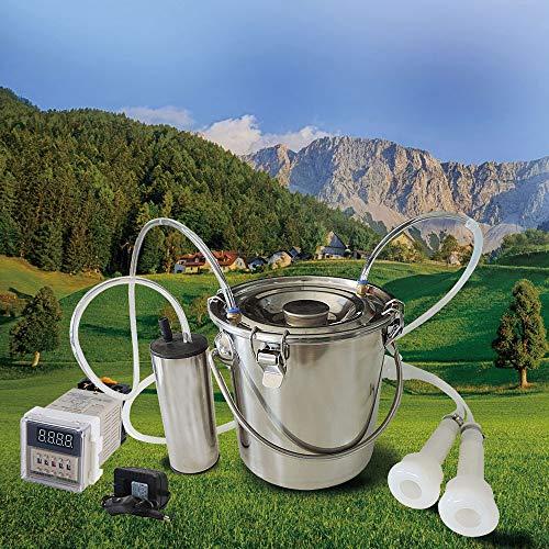 GCSEY 5 L efficiënte elektrische machine voor geitengoot van roestvrij staal milker vacuümpomp 220 V molens boeket landbouwgereedschap gezondheid veiligheid