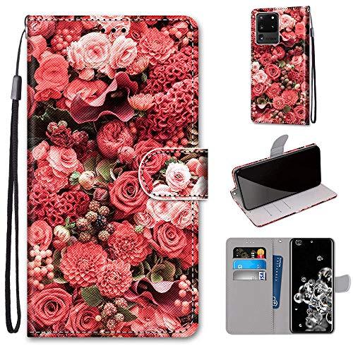 Funda para Galaxy S20 Plus, Samsung Galaxy S20+ 5G 6.7 pulgadas, funda antigolpes, correa de muñeca TPU para teléfono móvil, funda protectora para hombres y mujeres (rosa rosa, S20 Plus (6.7 pulgadas)