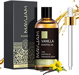 MAYJAM Huiles Essentielles de Vanille 100 ml, 100% Naturelles Pures Huile Essentielle D'aromathérapie de Qualité Thérapeut...