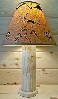 John Wayne Rustic Log Lamp Authentic Western Red Cedar with FREE 12