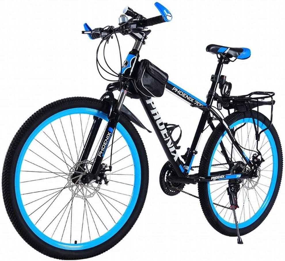 MU Mountainbike Fahrrad Erwachsene M/ännliche Und Weibliche Studenten Jugend Licht Rennen Offroad-Fahrradsto/ßd/ämpfung Mit Variabler Geschwindigkeit,A,24 Inches