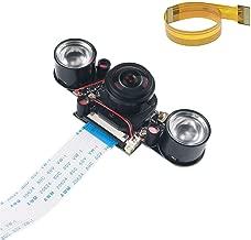 Oak-Pine 175 Degree Raspberry Pi IR Camera - Day Night Automatically Switching Vision Fisheye Wide Angle 1080P 5MP Camera OV5647 Webcam Built-in IR-Cut Shooting Mode for RPI Zero Zero W 2 3 B+ 3B 3B+