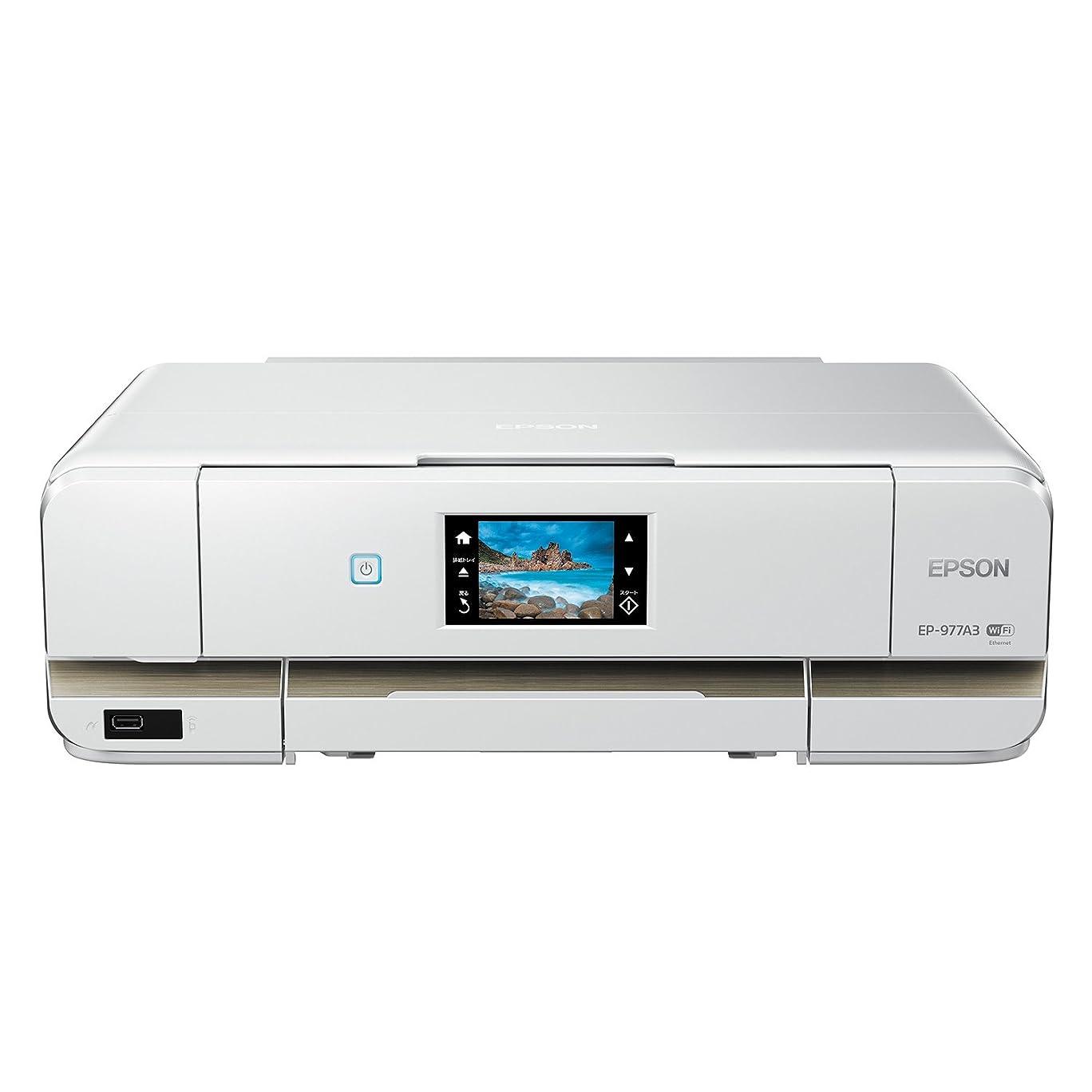 遅滞キロメートルおとなしいEPSON インクジェット複合機 Colorio EP-977A3 無線 有線 スマートフォンプリント Wi-Fi Direct A3
