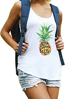 Alpha Gamma Delta Muscle Cotton Modal Pineapple Tank Top