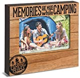 Pavilion Gift Company 67069 Memories are Made While Camping Photo Frame, 7-1/2 x 6-3/4'