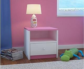 Children's Beds Home Table de Chevet pour Enfants Babydreams pour Enfants, Enfants, Junior (Rose, 40x40x30)