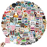 Reading Stickers Pack, 100 Pcs Motivational Stickers for Water Bottle, Waterproof Vinyl Stickers for Hydro Flask Laptop Computer Skateboard Snowboard Stickers, Positive Sticker for Kids Girls Teens