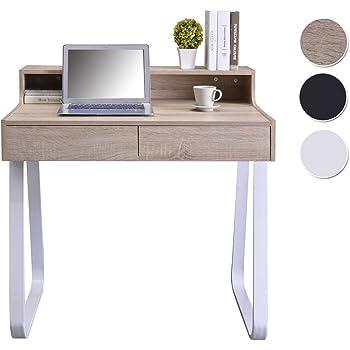 Tavolo da Lavoro per PC Portatile Home Office con 2 cassetti portaoggetti Scrittoio di Studio Stile Industriale,Lintel Oak Sekey Home Scrivania ad Angolo per Computer
