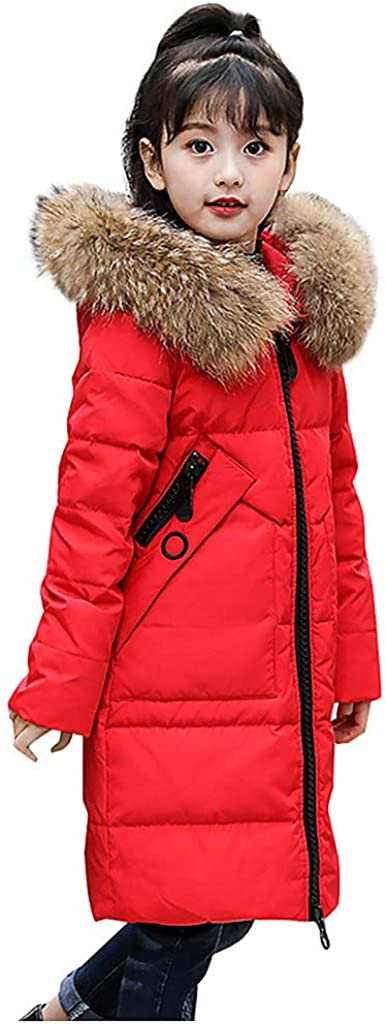 WOCACHI Girls Down Parka Little Max 54% OFF Removable Kids Hooded Limited time trial price Big