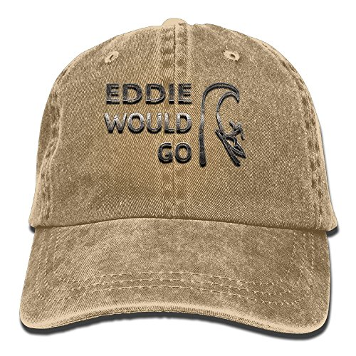 XZFQW Eddie Would Go Trend Printing Cowboy Hat Fashion Baseball Cap for Men and Women Natural