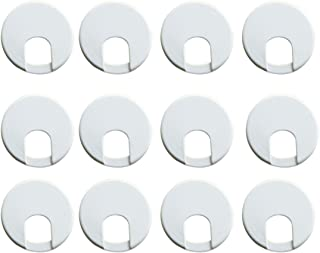 مكتب الكمبيوتر الجدول العداد الأعلى الأسلاك البلاستيك الحلقات 50 مم ديا 12 قطعة اللون الأسود تيد لي (أبيض)