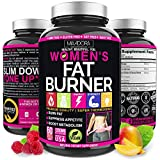 Women's Fat Burner Pills for Fast Weight Loss [Super Thermogenic] Best Natural Diet Pills, Metabolism Booster & Appetite Suppressant Supplement, Carb Blocker, Extra Strength & Energy, Vegan, 60 Caps