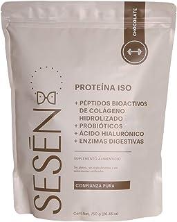 SESĒN Suplemento Alimenticio Proteína ISO + Colágeno Hidrolizado sabor Chocolate 750g