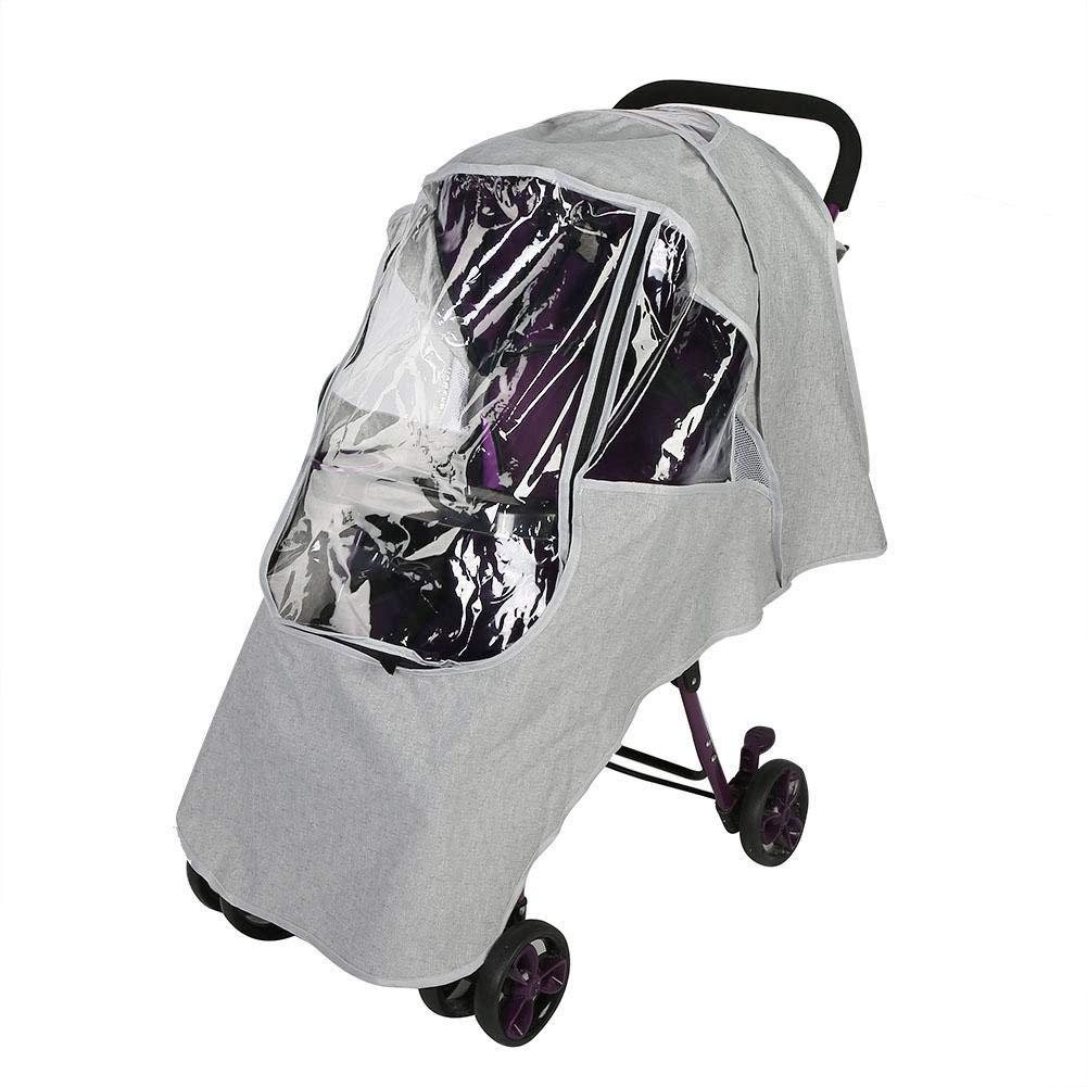 Stroller Weather Shield Universal Universal Stroller Rain Cover, Clear Stroller Weather Shield, Waterproof Windproof Baby Pram Pushchair Accessories(Universal-Light Grey)