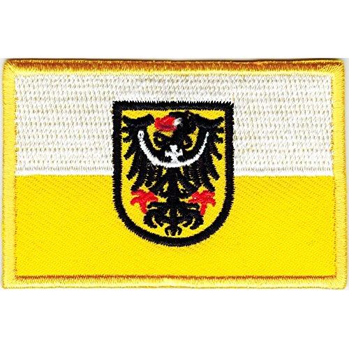 Everflag Patch zum Aufbügeln oder Aufnähen : Niederschlesien - Klein