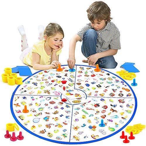 VATOS Brettspiel, Lernspiel Kleiner Detektiv Brettspiele für Kinder Spielzeug für Familien Party, Matching-Spiele Spielzeug für Kinder Geschenk ab 3-9 Jahre alt Kleinkinder Jungen & Mädchen