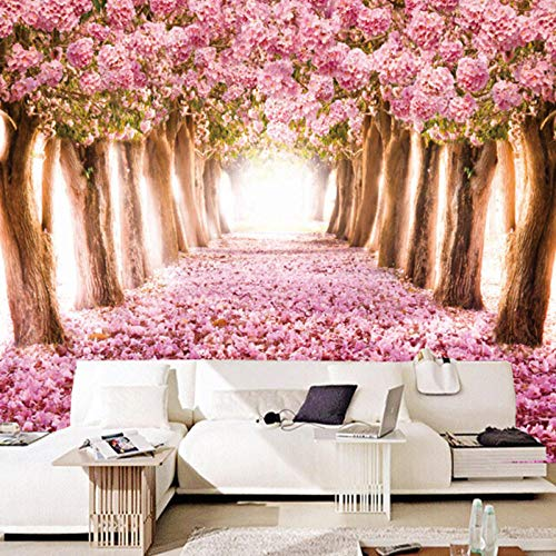 Fototapete Kirschblütenbaum Romantik Moderne Wanddeko Design Tapete Wandtapete Wand Dekoratio TV Hintergrundwand 250x175 cm