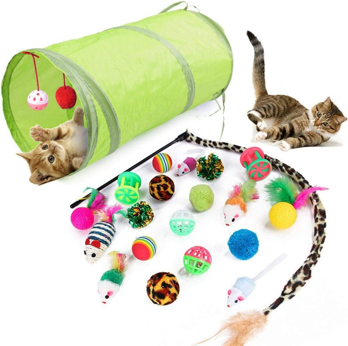 12 21pcs Kitten Toys Assorted Pet Super sale period limited Funny Playing Direct stock discount Collapsib