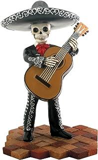 StealStreet Skeleton Skull Black Mariachi Band Bassist Figurine Collectible