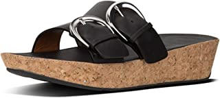 FitFlop Womens K34 Duo-Buckle Slide Sandals - Leather