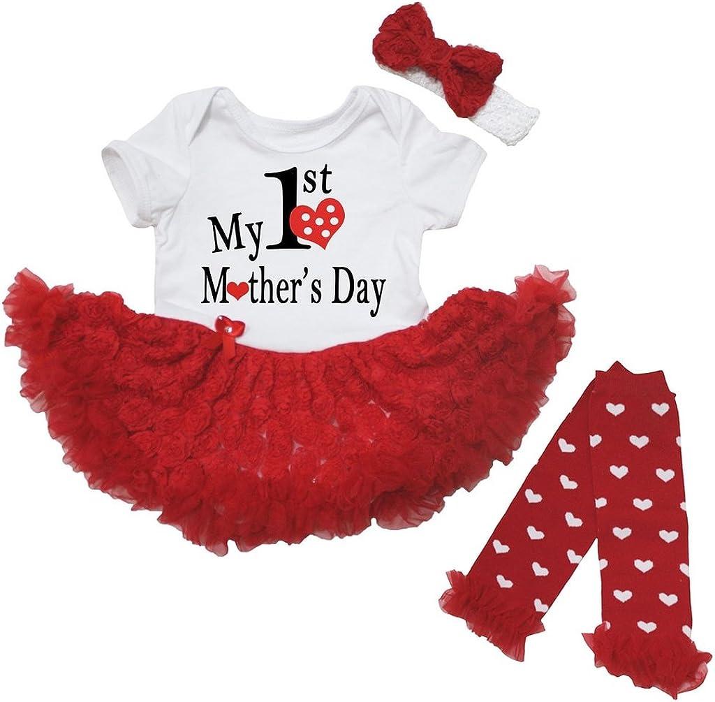 Petitebella My 1st Mother's Day Dress お得セット Baby Dots 全商品オープニング価格 Nb-18m Heart