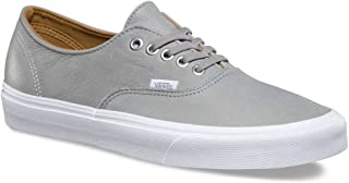 Vans Unisex Authentic Decon (Premium Leather) Wild Dove/True White Skate Shoe (4.5 Men US / 6 Women US)