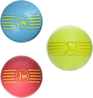 JW Pet Squeak Squeaker Dog & Puppy Fetch Chew Toy Small Ball 3 Pack