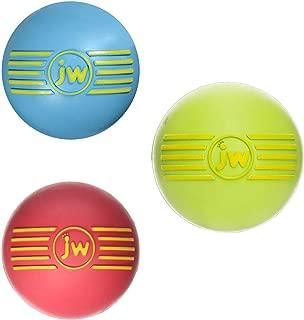 JW PET ISqueak Squeaker Dog & Puppy Fetch Chew Toy MEDIUM BALL 3 PACK