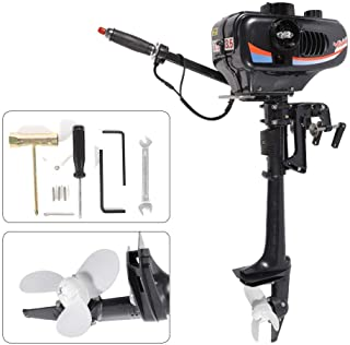 BSTOOL Outboard Motor 3.5 HP 2-Stroke Fishing Boat Short Shaft Engine Inflatable Boat Water-Cooling CDI System US Stock