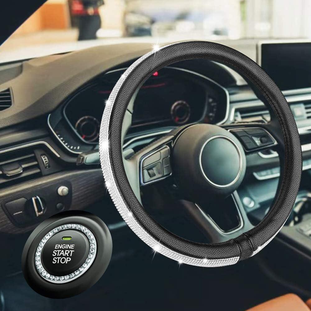 35% OFF HAOKAI New Premium Car Bling Steering Detroit Mall Cover for Wheel Girl Women