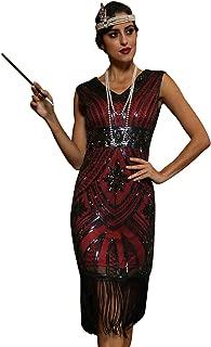 Women's 1920s Flapper Dress Glam Sequin Inspired Beaded Cocktail Dress