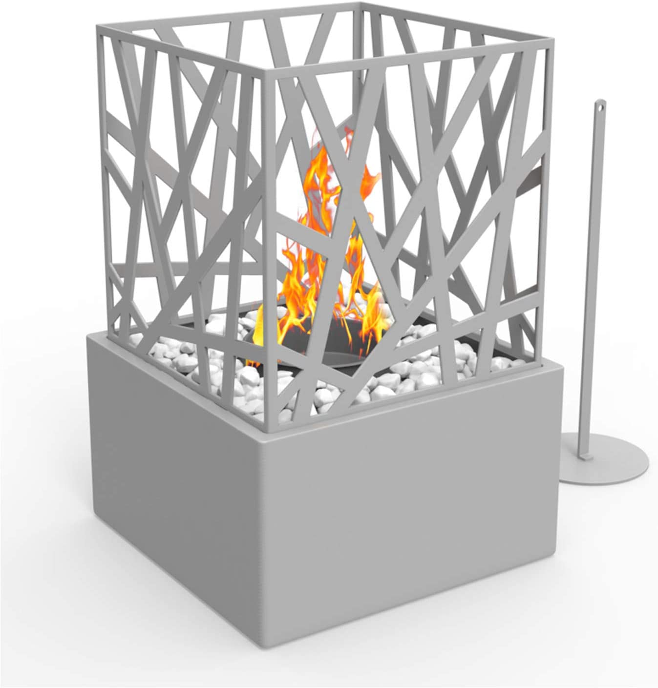 Regal Flame Long Beach Mall Indoor Outdoor Bruno Tabletop Ventless Portable Gorgeous Bio