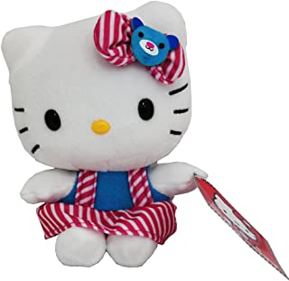 Hello Kitty Small Cute Plush Doll-Pink Stripes