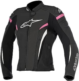 Alpinestars Women's Stella GP Plus R v2 Airflow Leather Jacket (44) (Black/White/Pink)