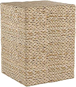 Oriental Furniture Rush Grass Square Coffee Table, Natural