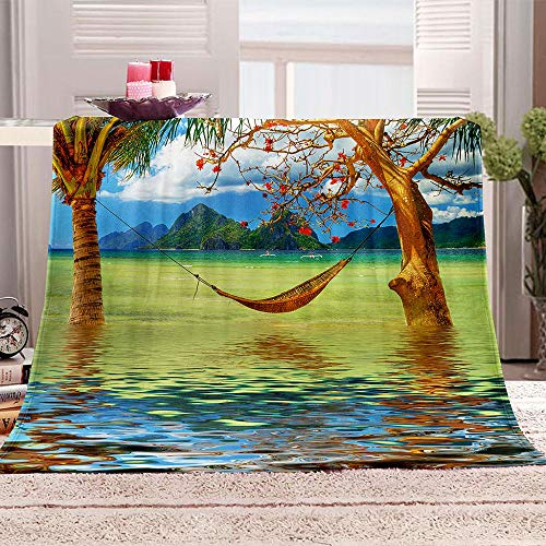LIUDALA Hammock in the water-3D blanket double single blankets bed blanket baby blanket blankets for kids blankets for blankets camping blankets blankets for sofas Fluffy Bed Throws 130x150cm