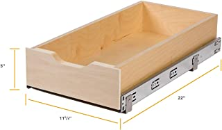 Knape & Vogt Soft-Close Wood Drawer Box, 5 by 11.63 by 22