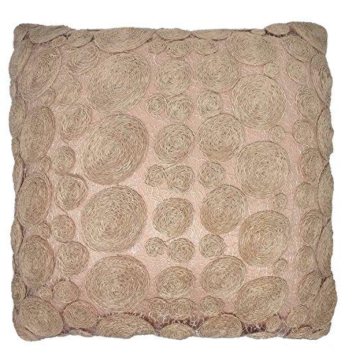 UK Care Direct Rose Pastel Dentelle Circulaire 43 cm 43,2 cm Housse de Coussin