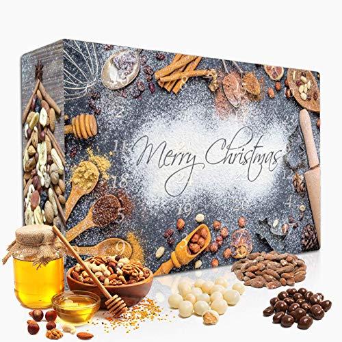 """C&T Snack Adventskalender 2020 """"Classic""""   24 Päckchen à 25g leckere Knabbereien für den Advent   Knusperkalender mit einer Mischung aus Mandeln, Cranberry , Erdnüssen"""